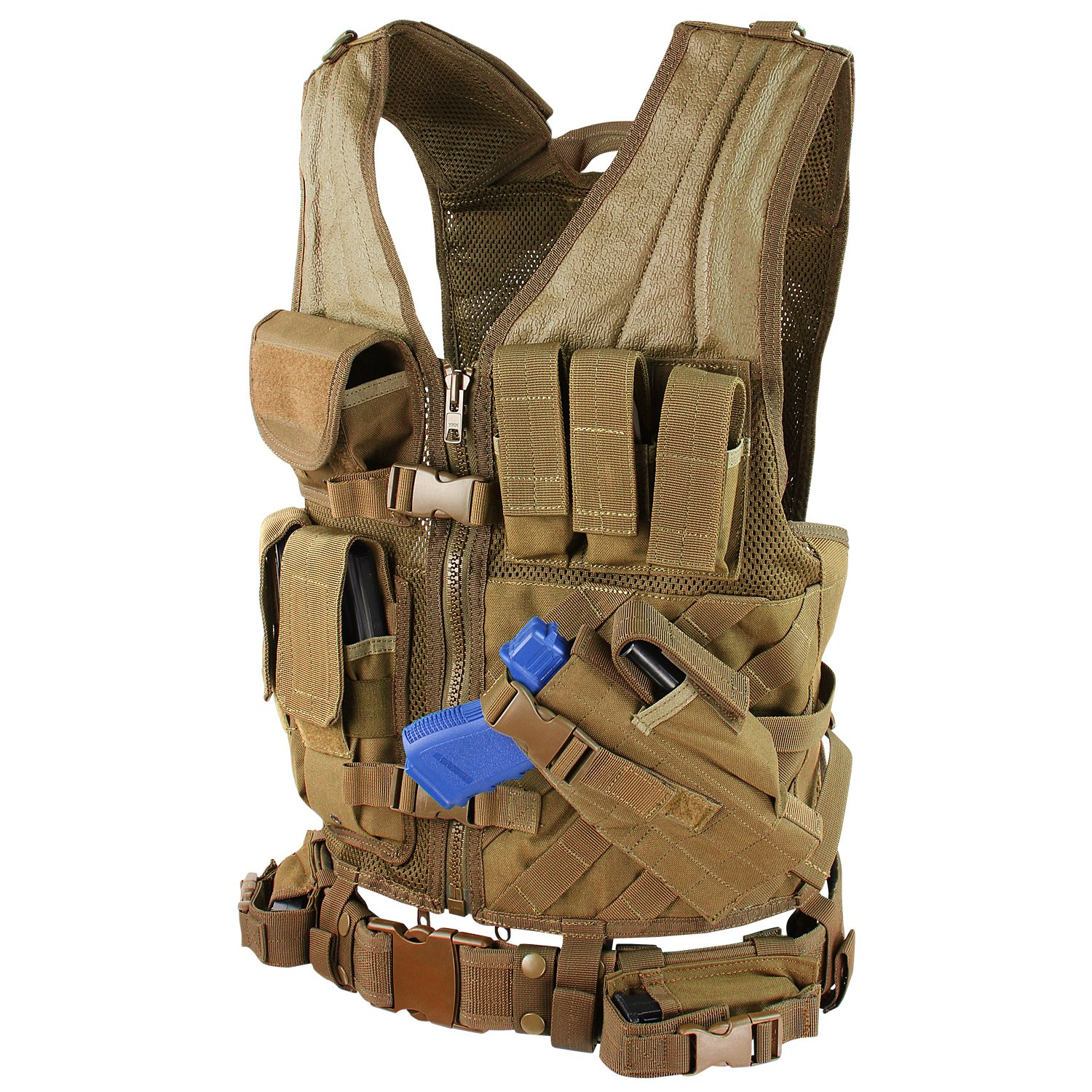 Coyote Brown Condor CV-498 Cross Draw Vest