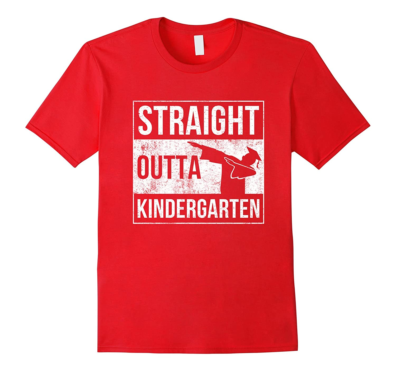 Straight Outta Kindergarten Graduation Shirt Gift Boys Girls-Vaci