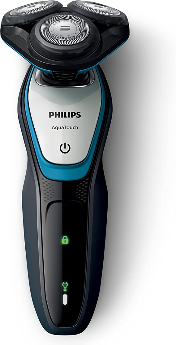 Philips AquaTouch S5070/59 - Afeitadora (Máquina de afeitar de rotación, SH50, 2 año(s), Azul, Carbón vegetal, Plata, LED, Batería): Amazon.es: Hogar