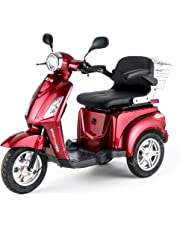 VELECO 3 Wheeled Electric Mobility Scooter 900W 8 mph/16 mph ZT15 RED