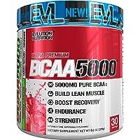Evlution Nutrition BCAA5000 Powder 5 Grams of Premium BCAAs, 30 Servings (Cherry Limeade)