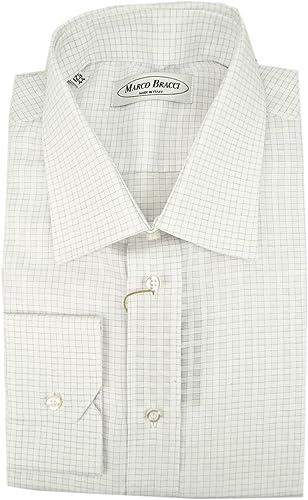 El Hombre De La Camisa A Cuadros Blanco Lila Spread Collar ...