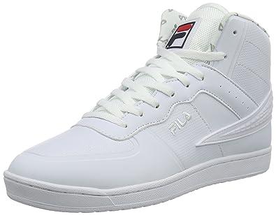Fila Falcon 2 Mid Wmn, Sneakers Basses femme Blanc Weiß (Bright White