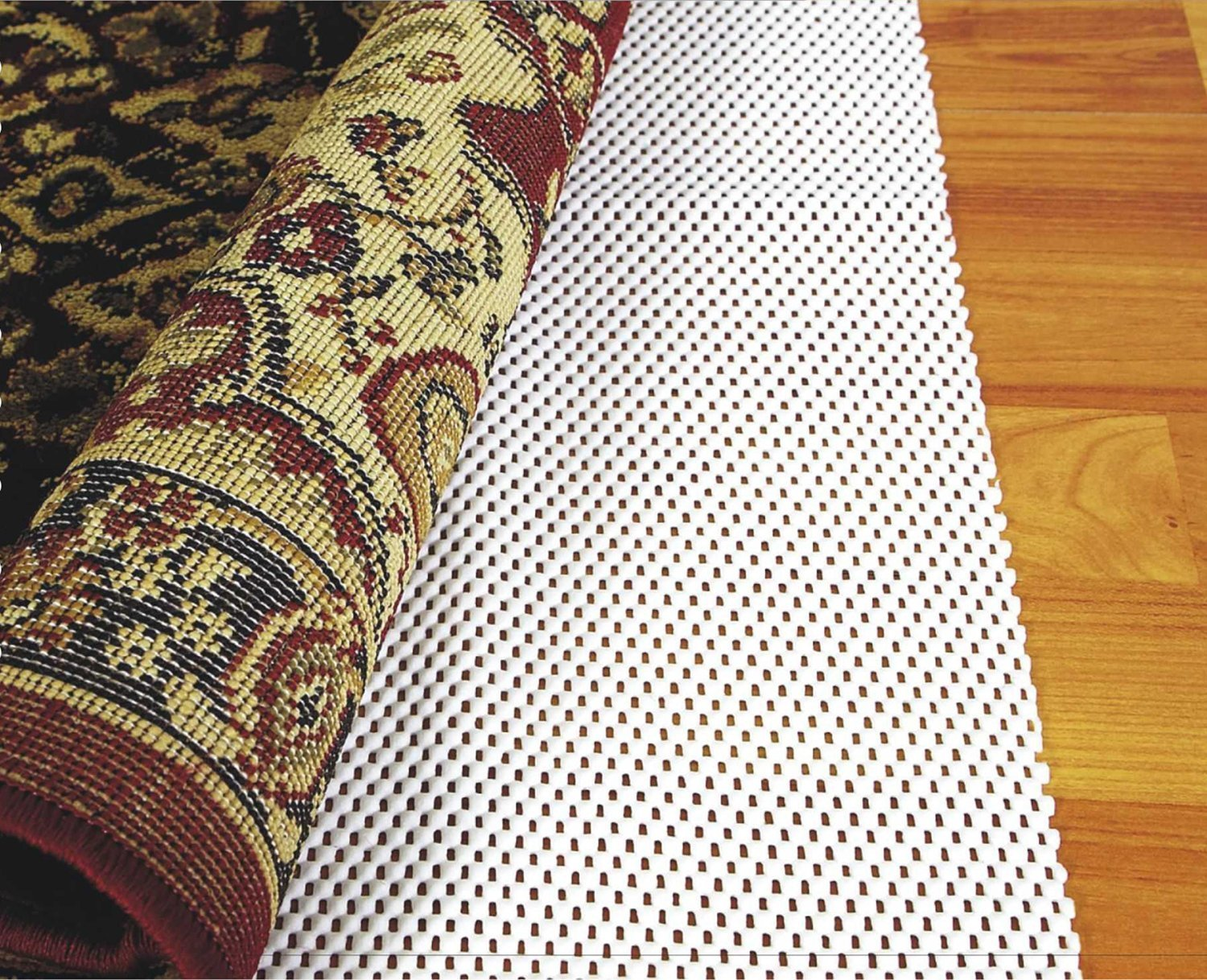 ABAHUB Premium Quality Anti Slip Rug Grippers 8' x 10' for Under Area Rugs Carpets Runners Doormats on Wood Hardwood Floors, Non Slip, Washable Padding Grips