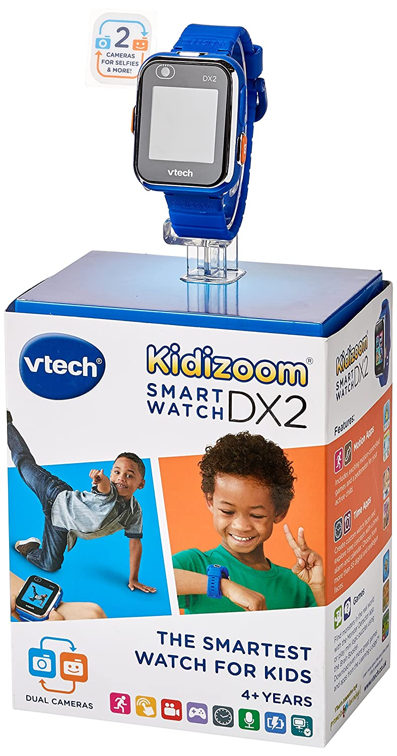 VTech Kidizoom Smart Watch DX2 - Reloj Inteligente para niños, Color Azul, versión Inglesa (193803)