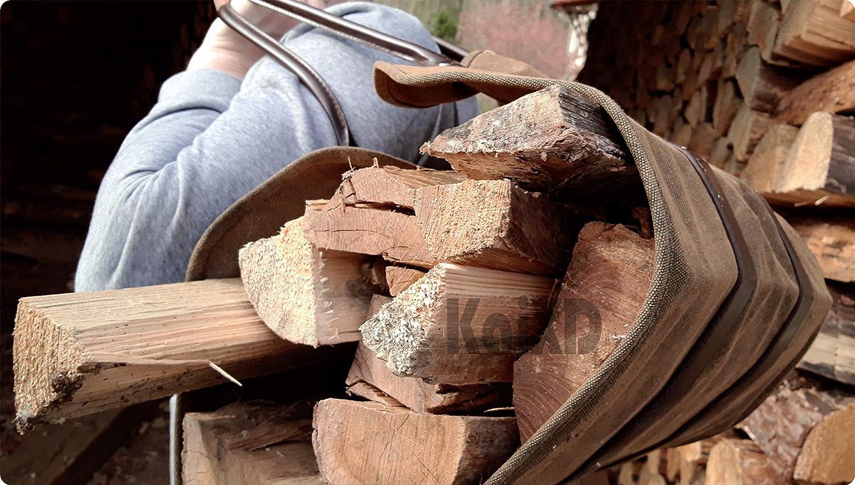Waxed Canvas Sac pour bois de chemin/ée