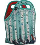 """Art of Lunch Neoprene Lunch Bag by Large [12"""" x 12"""" x 6.5""""] Gourmet Insulating Lunch Tote - A Partnership with Artists Around the World - Design by Michelle Li Bothe (Germany) - Birches"""