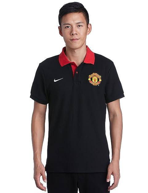 Nike Polo de Manga Corta para Hombre - 01478173010, Negro/Rojo ...
