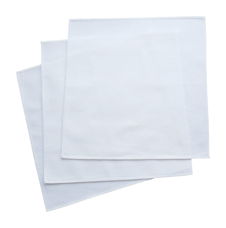 "Men's Handkerchiefs 100% Organic Cotton – 14"" pocket squares Made in USA set (3) Black TOHC100"