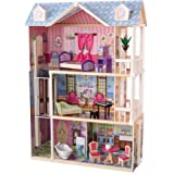 KidKraft My Dreamy Dollhouse with Furniture Multi, 36.60 x 14.00 x 47.20 Inches