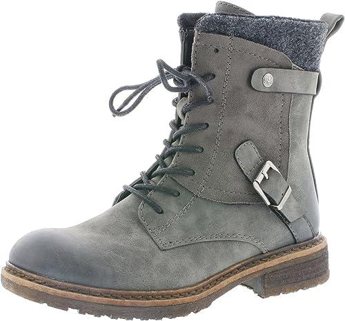 Rieker Damen Klassische Stiefel 94742,Frauen Boots,Schnürstiefel,Blockabsatz 3.8cm