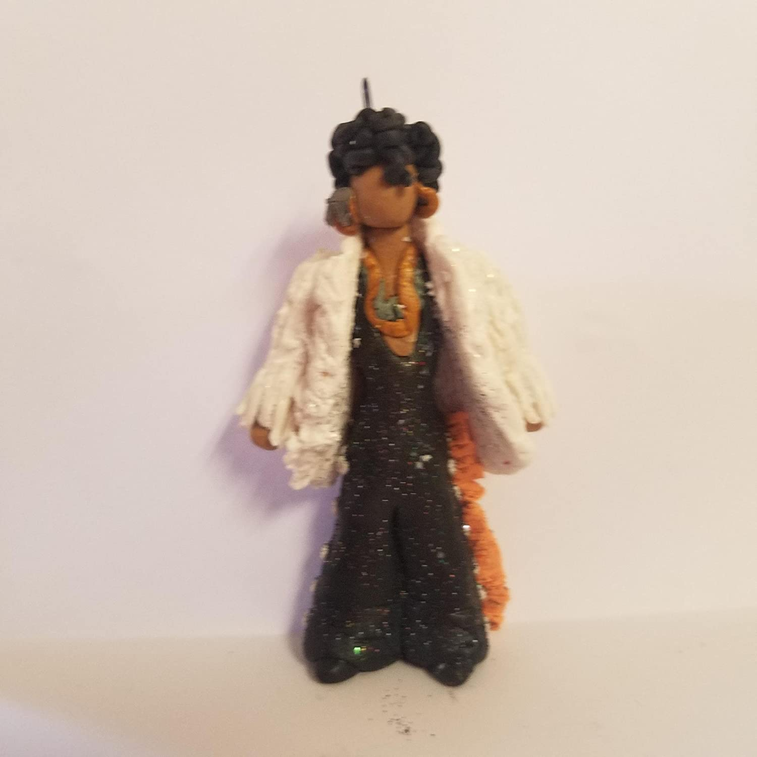 PRINCE Youve Got The Look CHRISTMAS ORNAMENT Hand Made Polymer Clay OOAK