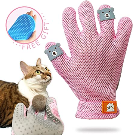 Skxinn Pet Grooming Brush Glove Hair Removal Mitts Gentle Brush Cat Dog Puppy Cleaning Accessories Long Short Fur Hair Gifts Durable