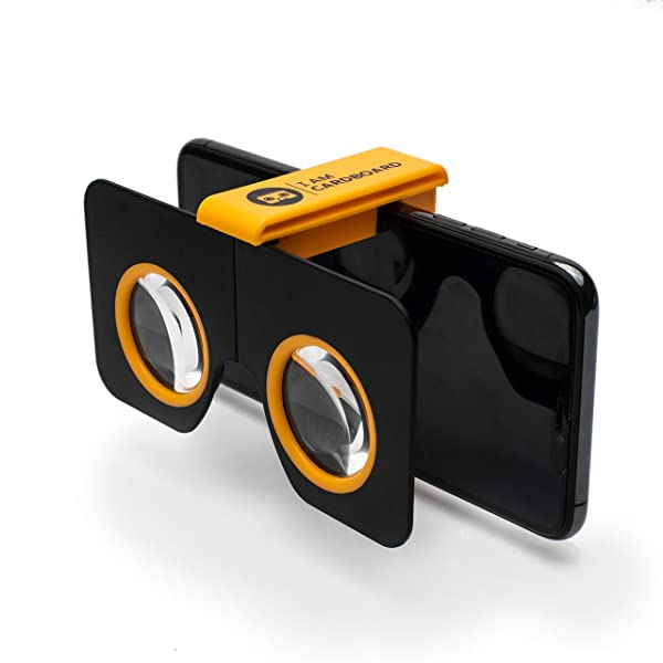 I Am Cardboard Pocket 360 Mini VR Viewer | The Best Google Cardboard Virtual Reality Glasses | Google Cardboard v2 Inspired | Small and Unique Travel Gift Under 20 Dollars (Color: Yellow)