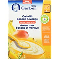GERBER Oat with Banana & Mango Baby Cereal 6 x 227 g (Pack of 6)
