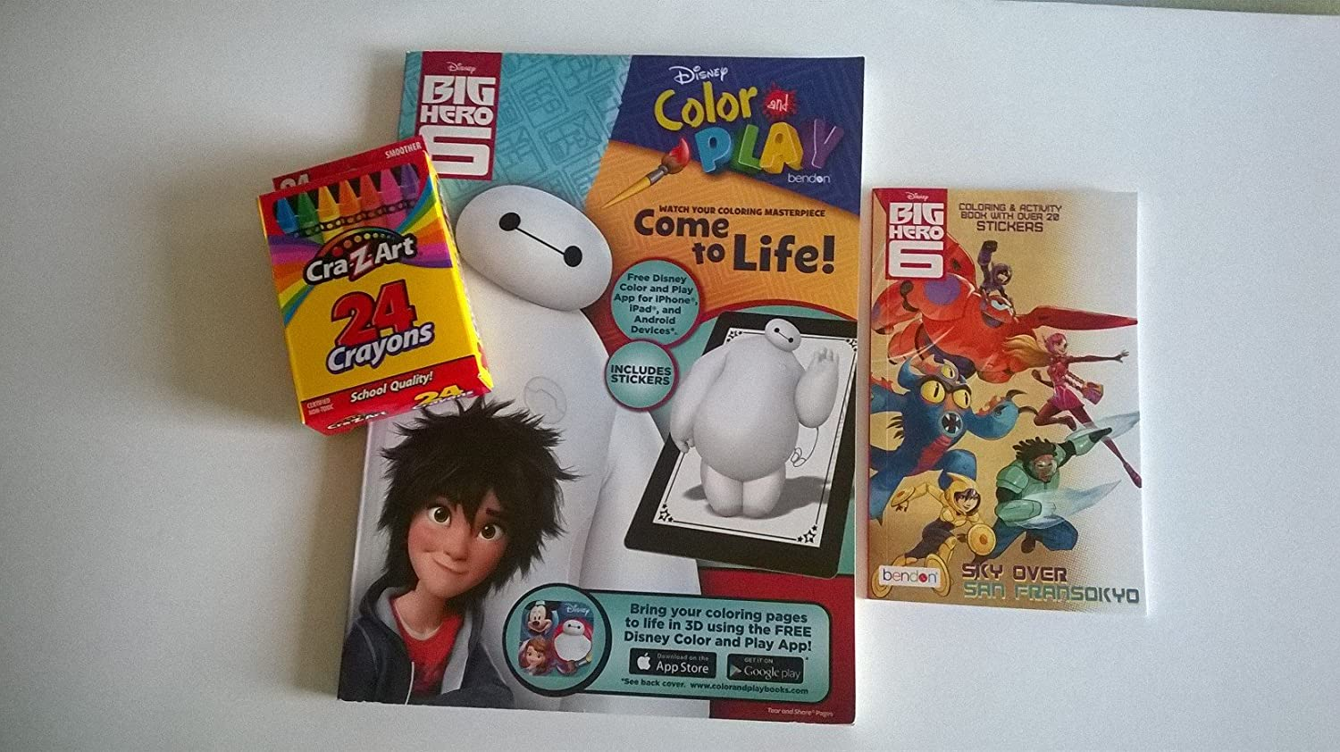 Amazon BIG HERO 6 Coloring Activity 3 PC Bundle Includes 1 Disney Color Play Book With Stickers1 Mini