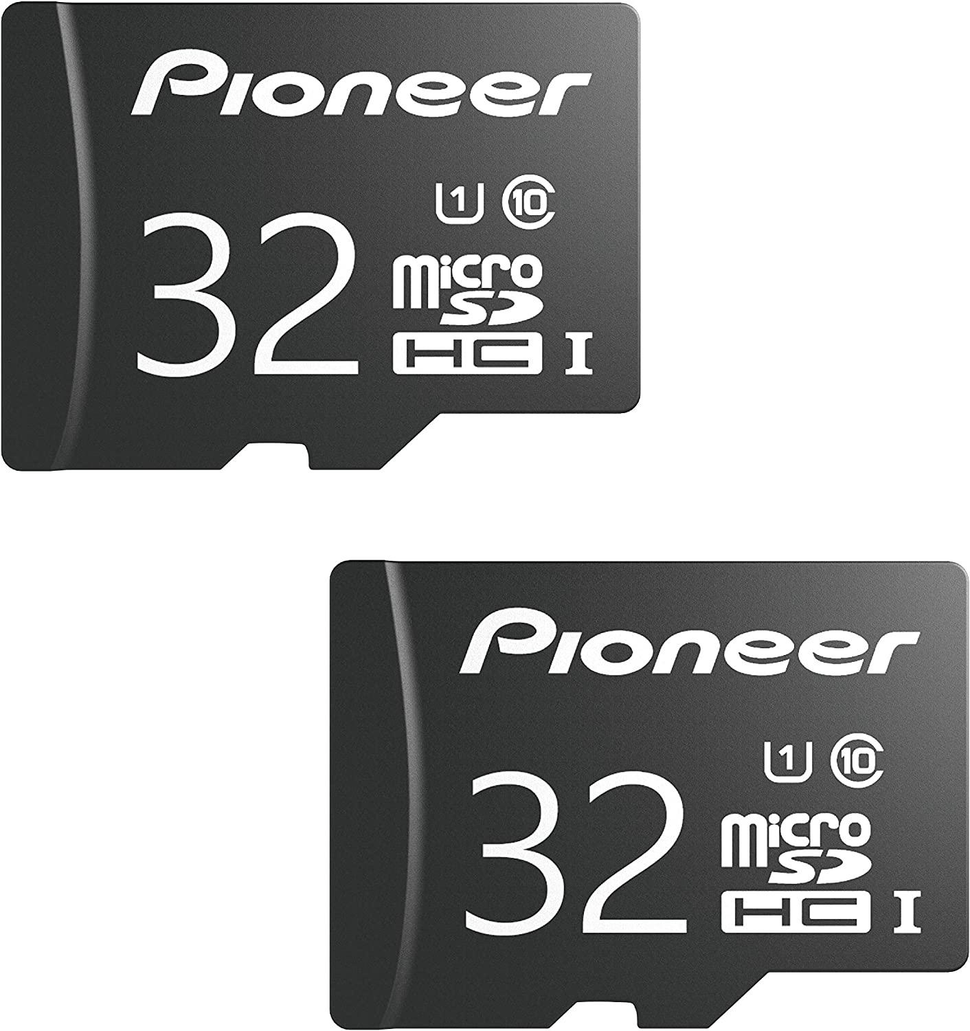 Pioneer 32GB microSD Classic with Adapter - C10, U1, Full HD Memory Card (2 Pack)