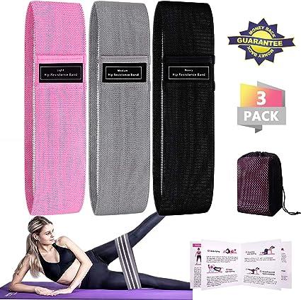 Winline Juego de 3 Bandas elásticas para Fitness con 3 Niveles de Resistencia (Rosa/Negro/Gris): Amazon.es: Deportes y aire libre