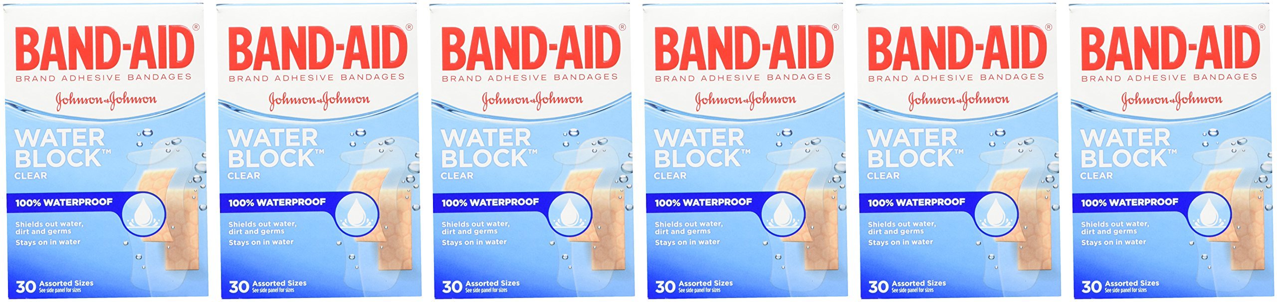 Band-Aid Brand Water Block Plus Waterproof Clear Adhesive Bandages for Minor Cuts and Scrapes, 30 ct (6 Pack) by Band-Aid (Image #3)
