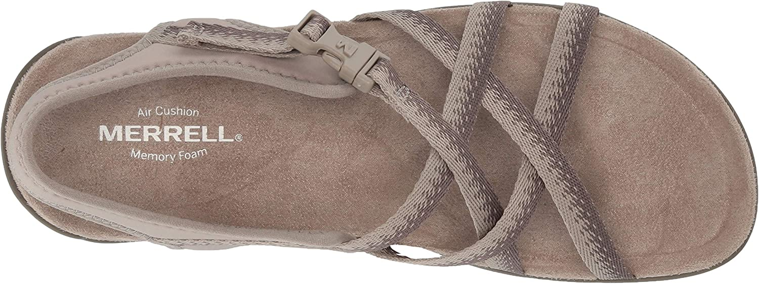 Merrell District Muri Lattice, Sandales Bride arrière Femme Gris Moon