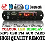 GJ Bluetooth FM USB AUX Card MP3 Stereo Audio Player Decoder Module Kit with Remote for Audio Amplifier DIY