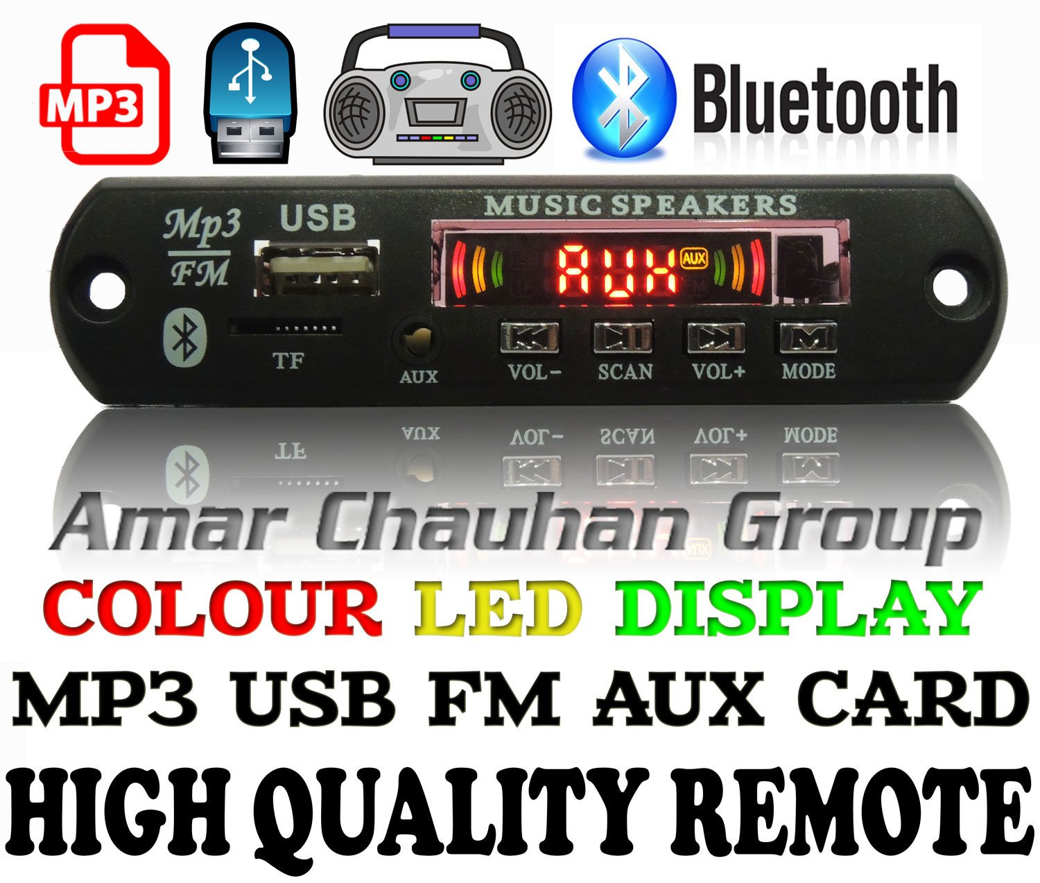 Vaani Bluetooth Fm Usb Aux Card Mp3 Stereo Audio Player Home Images Circuit Diagram Electronics