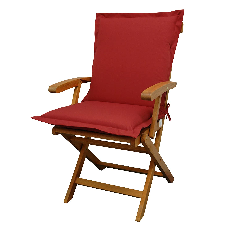 IND-70431-AUNL Sitzauflage Niederlehner Premium, extra dicke Polsterauflage mit Reißverschluss, 100 x 50 x 9 cm, Rot