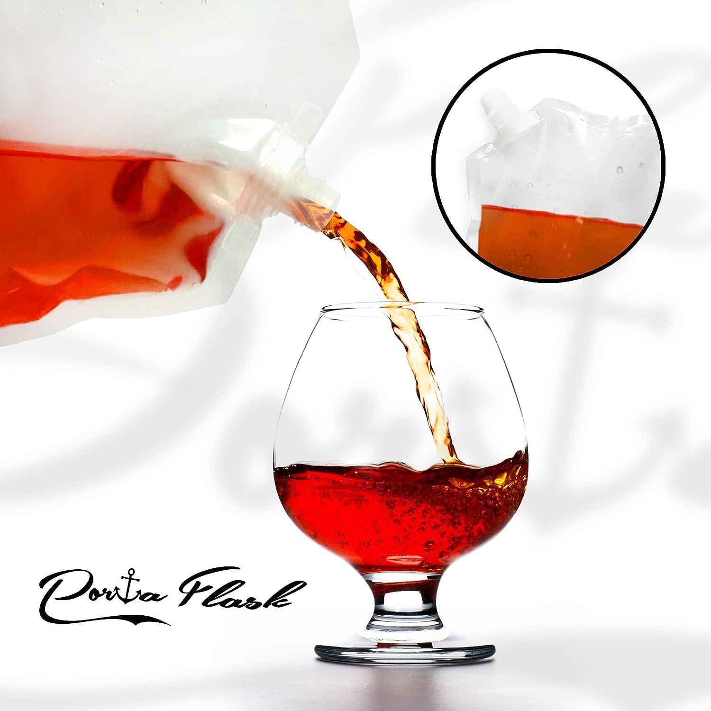 Porta Flasks Cruise Liquor Bag Kit Durable Reusable Flask Kit