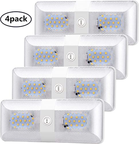 Bluefire 4 Pack Super Bright Ceiling Double Dome LED Light