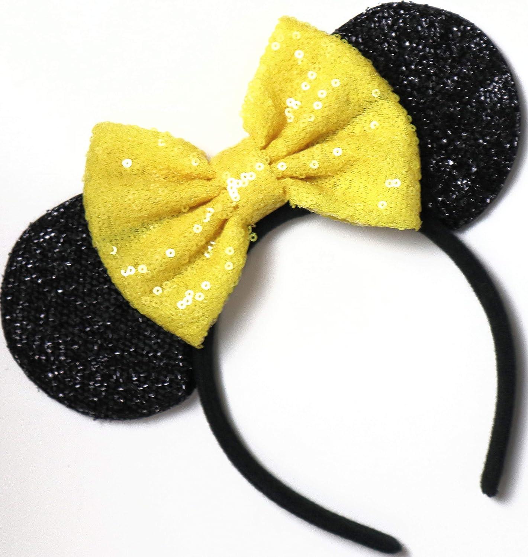 Orejas de Mickey de Bella Amarilla, orejas de Disneyland, orejas ...