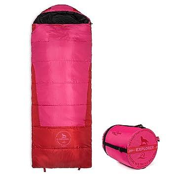 Lucky Bums juventud Explorer 10 grados saco de dormir, color rosa, tamaño 74-Inch, 3.1, 74 x 24 x 4inches: Amazon.es: Deportes y aire libre