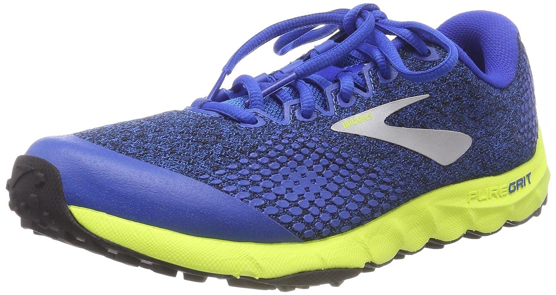 Brooks PureGrit 7, Zapatillas de Running para Hombre 40.5 EU|Multicolor (Blue/Lime/Black 492)