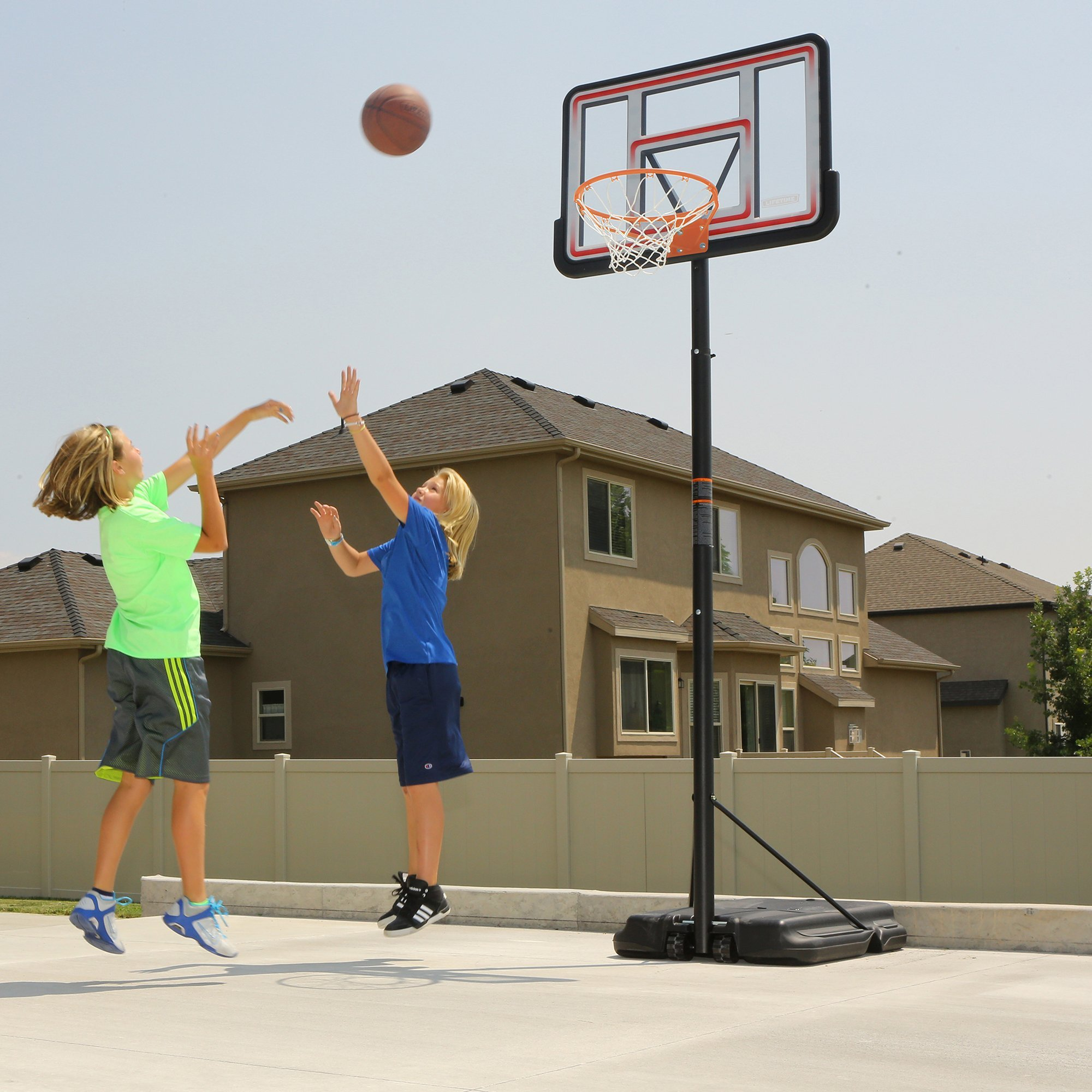 Lifetime 1269 Pro Court Height Adjustable Portable Basketball System, 44 Inch Backboard by Lifetime (Image #9)