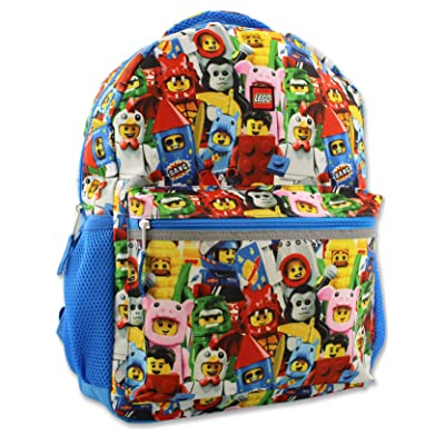 Lego Minifigures Boy's Girl's 16 Inch School Backpack (One Size, Lego Minifigures) | Kids' Backpacks