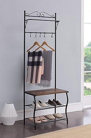Kings Brand Furniture - Zapatero de Entrada, Perchero ...