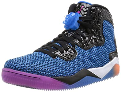 separation shoes 6c371 8d48d Jordan Nike Mens Air Spike Forty Black Fire Pink-Photo Blue Synthetic Size  8.5