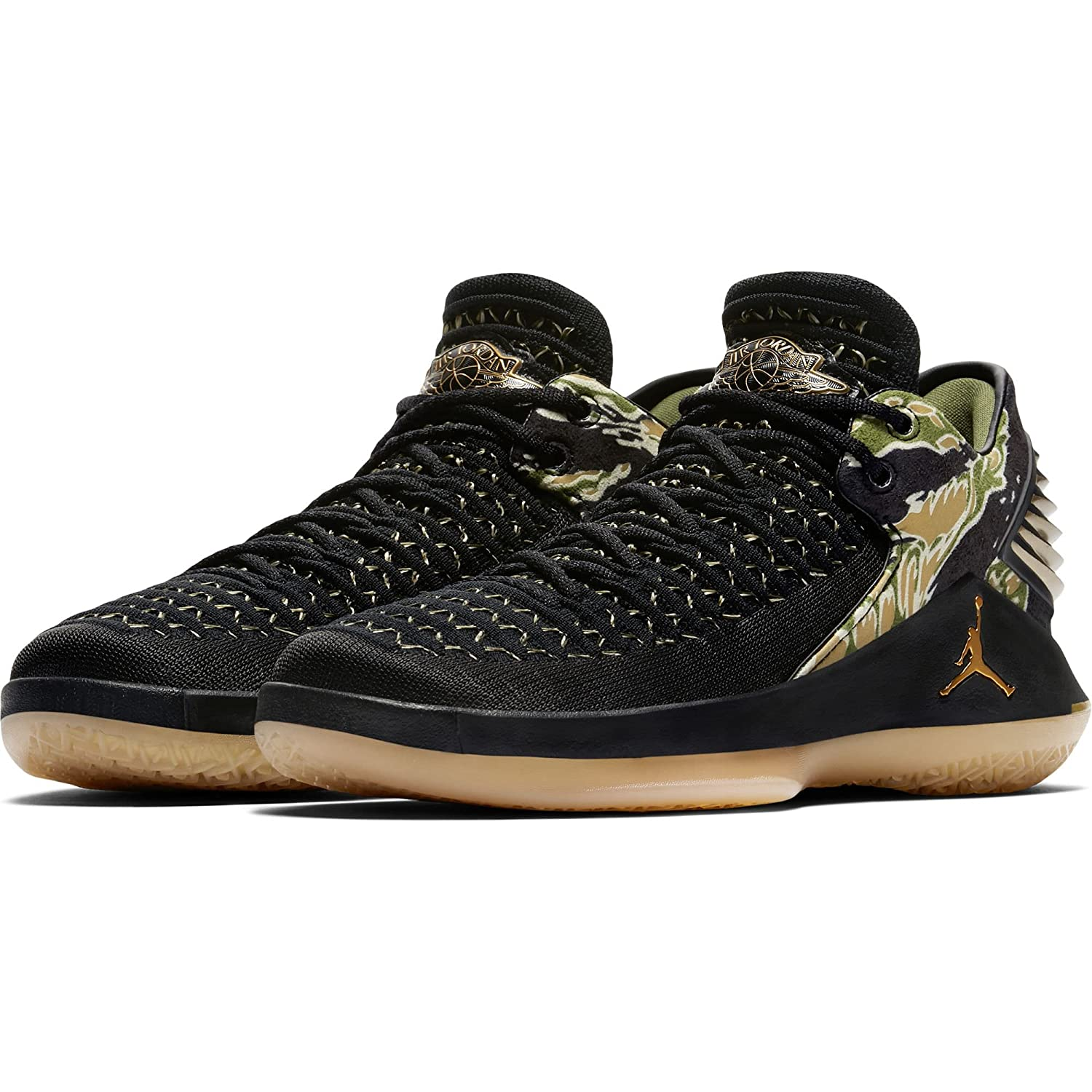 buy online 27195 acf60 Nike Air Jordan XXXII Tiger Camo , Schuhe Herren 38.5 EUBlackMetallic  Gold-Gum Yellow - associate-degree.de