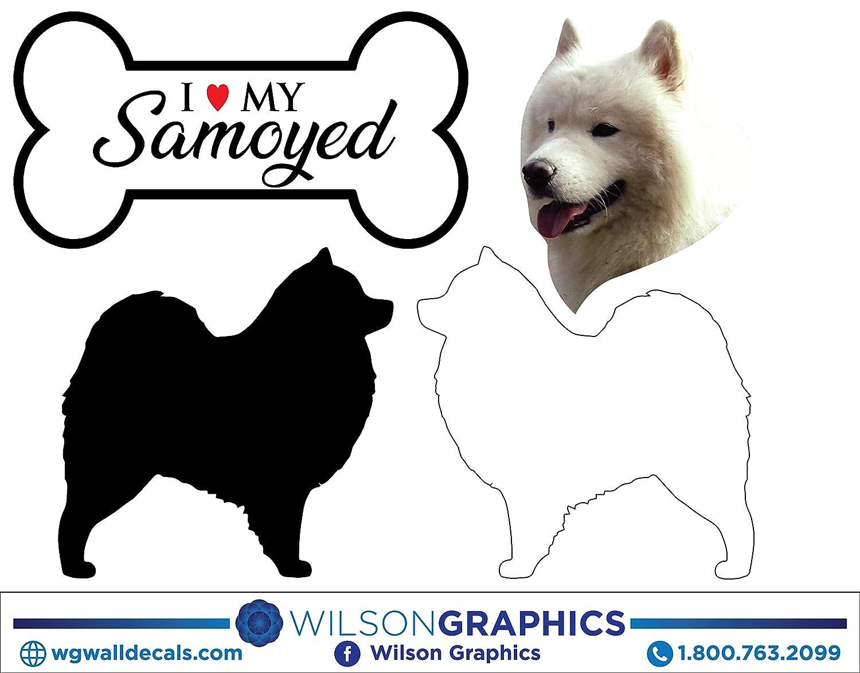 Samoyed Dog Breed ebn2004 Multiple Patterns /& Sizes Vinyl Decal Sticker