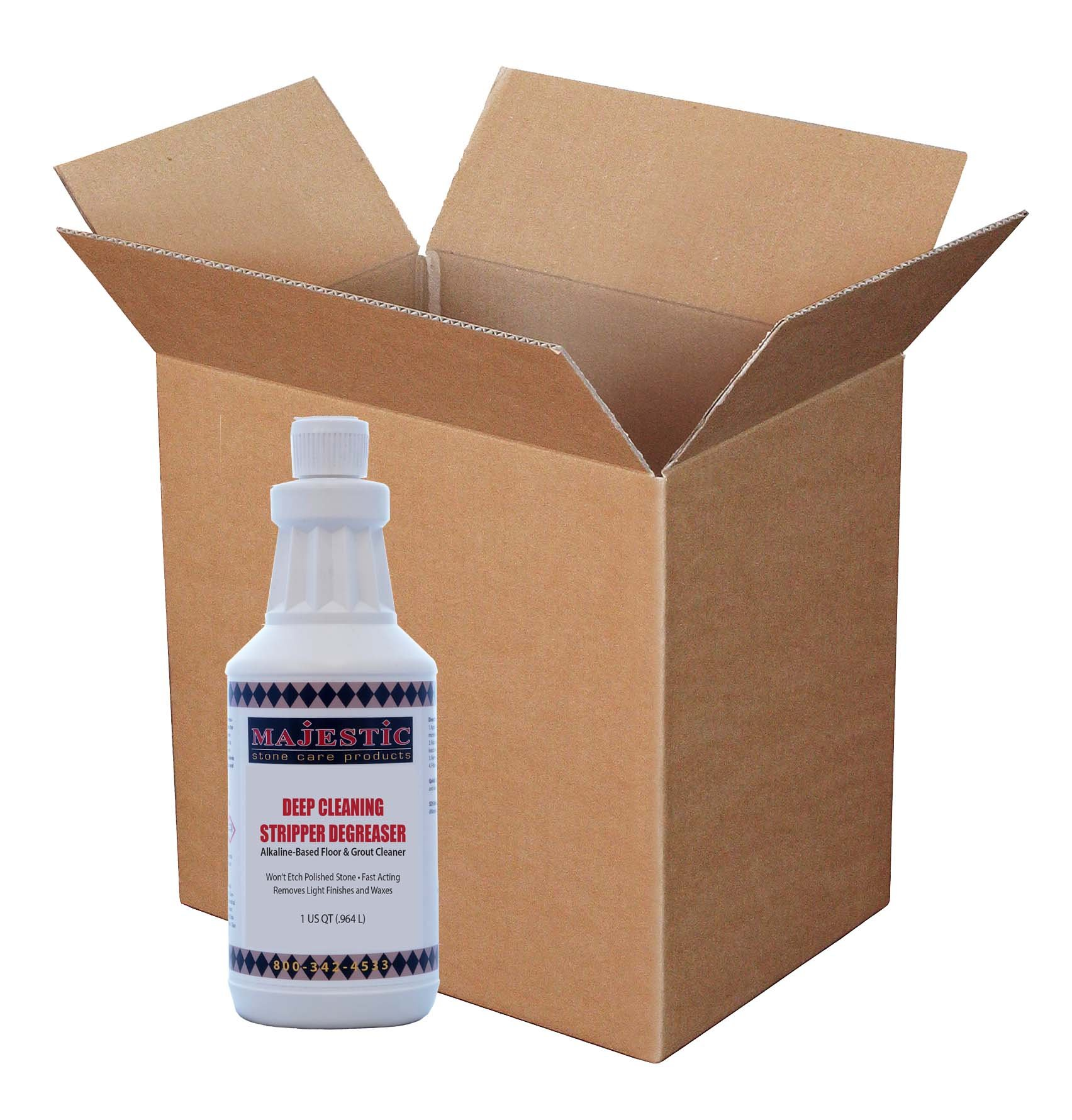 Deep Clean Stripper Degreaser (Case/12 Qts.) by Majestic Stone Care Products