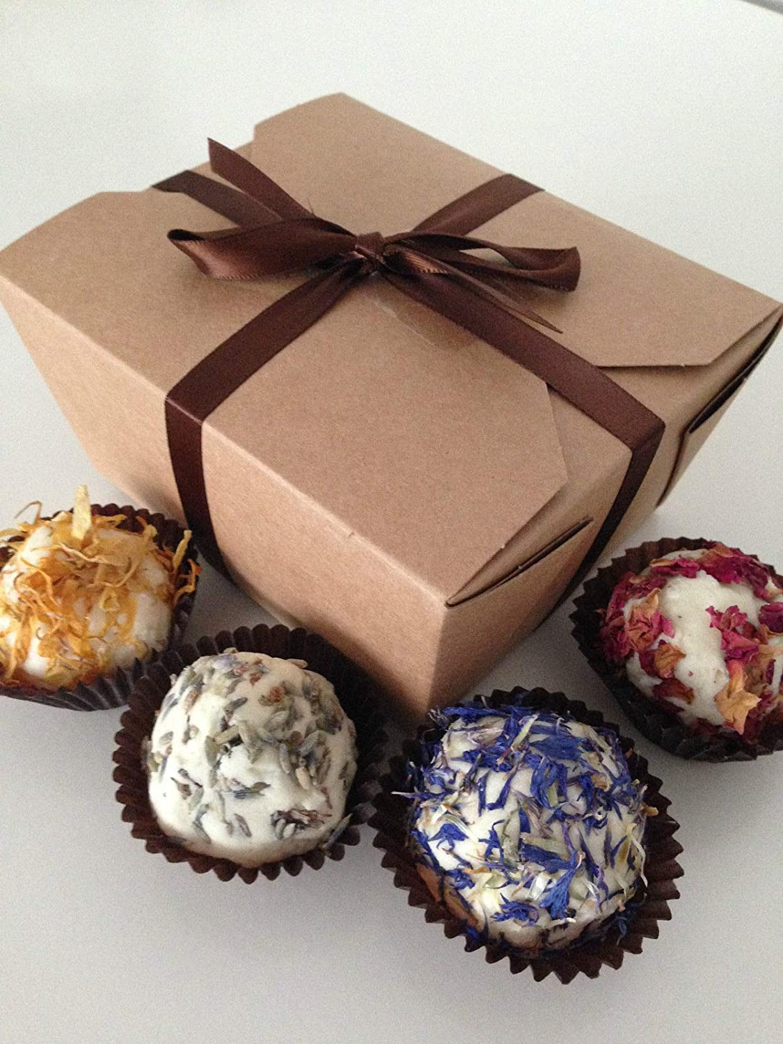 Bathtime Boutique - Cocoa Butter Bath Bomb Truffles Gift Box. Sprinkles or Flowers. Perfect Christmas & Birthday Gifts (Sprinkles) Bathtime Boutique Ltd