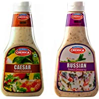 Cremica Caesar Salad Dressing, 350g with Russian Salad Dressing, 350g