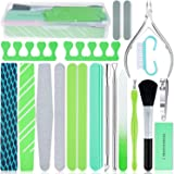 20 in 1 Nail File Set, EAONE Professional Manicure Kit Pedicure Tools Nail Art Tools with Nail Files and Buffers Cuticle…
