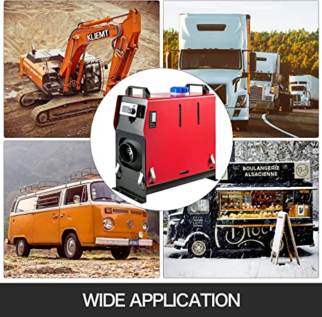 BuoQua Riscaldatore d/'aria Diesel Riscaldatore di Carburante 12V 8KW Riscaldato Riscaldatore d/'ria Diesel con Interruttore LCD
