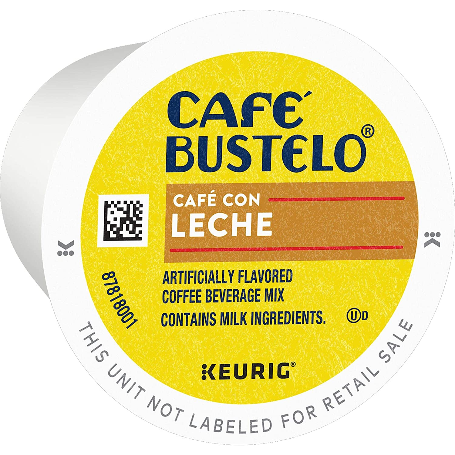 Cafe Bustelo Cafe Con Leche K Cup Pods for Keurig Brewers, 60Count