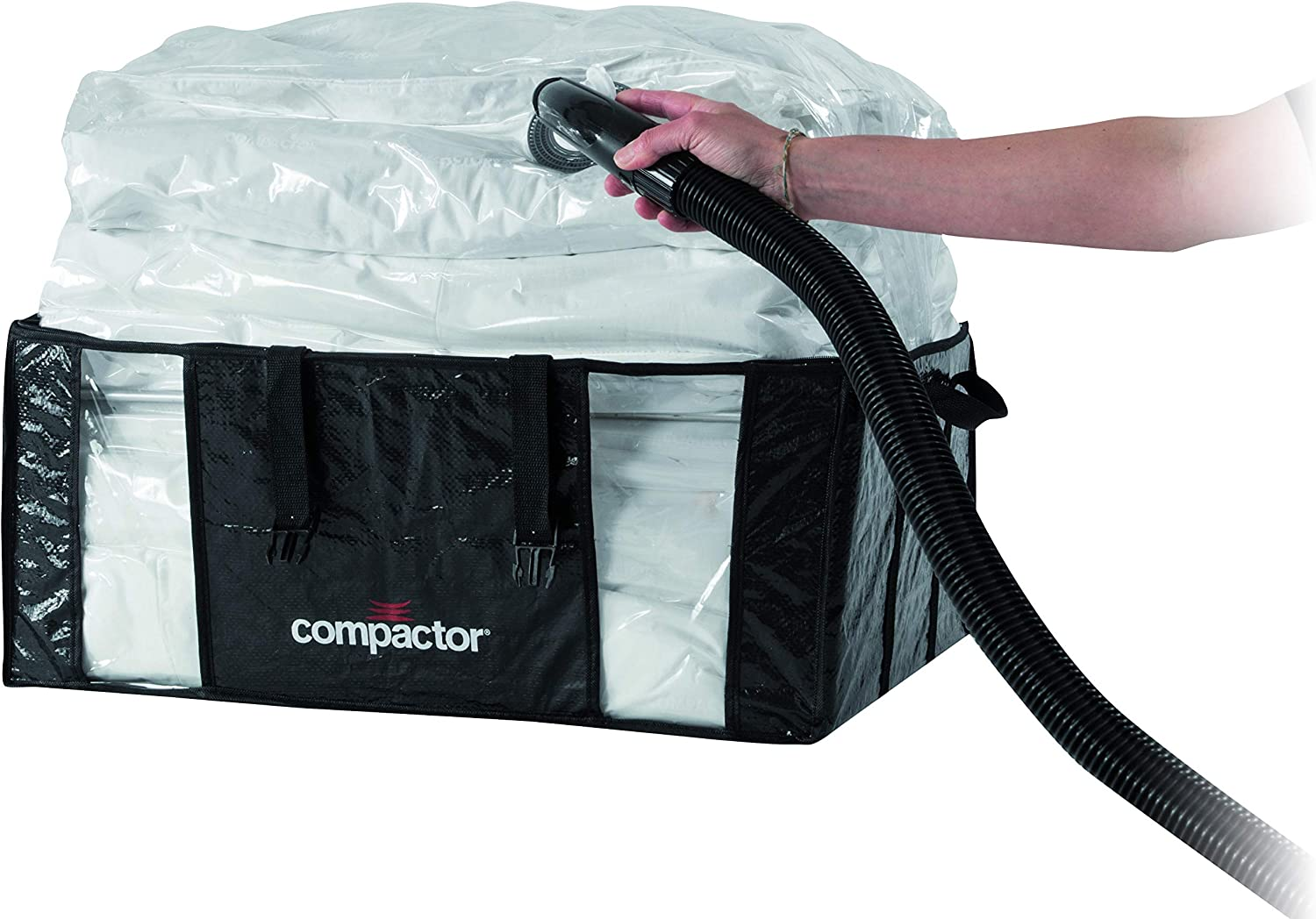 Compactor Space Saving Vacuum Storage Bags Dust Free Storage for Clothing Bedding Pillows - Parisienne XXL (25.5x10.5x19.5)