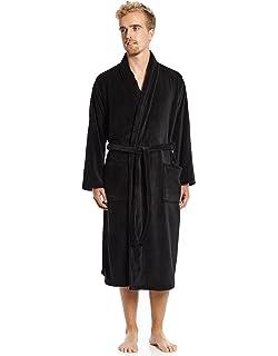 117d0d5b8a Leveret Mens Robe Soft Micro Fleece Plush Shawl Collar Bathrobe Robe (Size  Small-XXLarge
