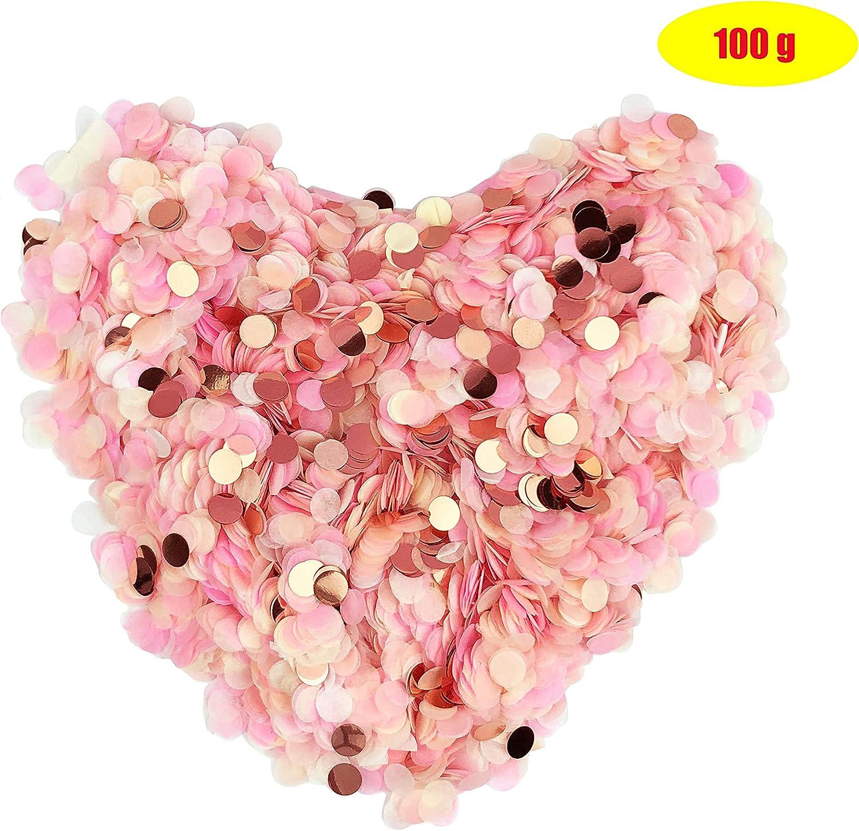 100g Aucheer Konfetti Rosegold Mehrfarbig 10000 St/ück 1cm rund