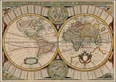 Decoratif Reproduction Melchior Tavernier 1643 Nova Totius