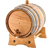 2 Liters American Oak Aging Whiskey Barrel | Handcrafted using American White Oak | Age your own Whiskey, Beer, Wine…