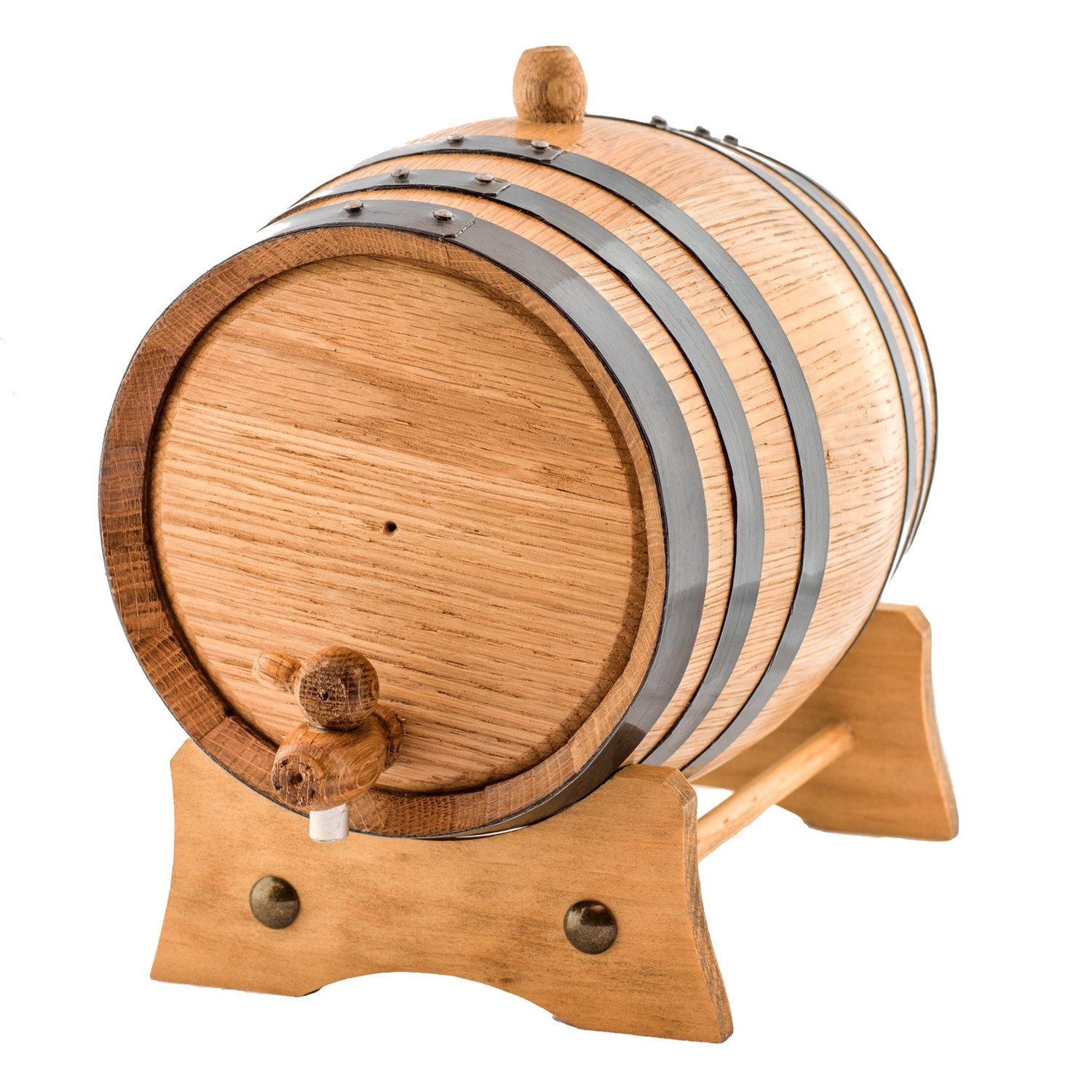 2 Liters American Oak Aging Whiskey Barrel   Handcrafted using American White Oak   Age your own Whiskey, Beer, Wine, Bourbon, Tequila, Hot Sauce & More by Sofia's Findings